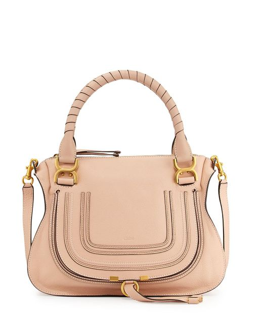Chloé   Pink Marcie Medium Satchel Shoulder Bag   Lyst