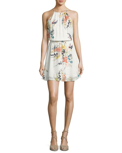 Joie | Multicolor Makana Silk Floral Mini Dress | Lyst