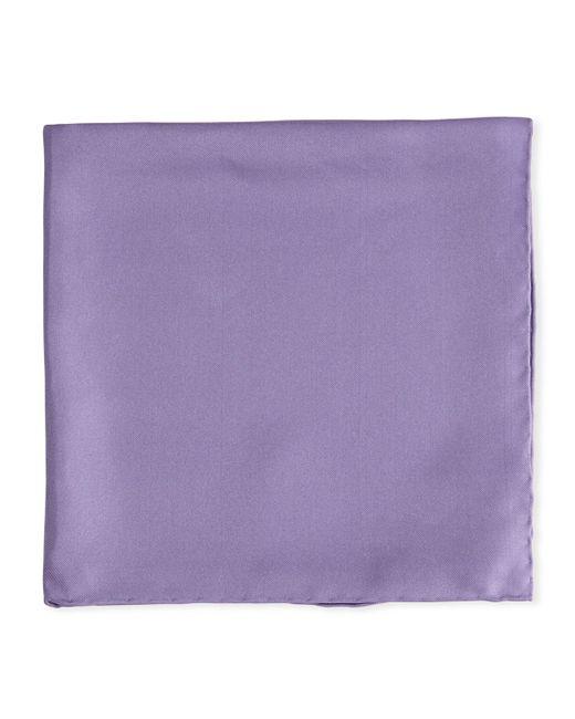 Psycho Bunny - Purple Solid Silk Twill Pocket Square Lavender for Men - Lyst