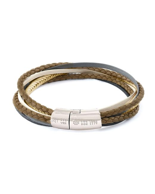 Tateossian - Metallic Men's Multi-strand Leather Cobra Bracelet for Men - Lyst