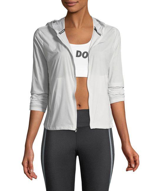 Nike - Gray Shield Convertible Running Jacket - Lyst