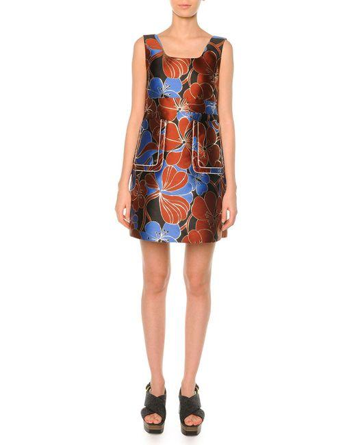 Marni - Multicolor Pimpernel Blossom Jacquard Dress Raisin - Lyst