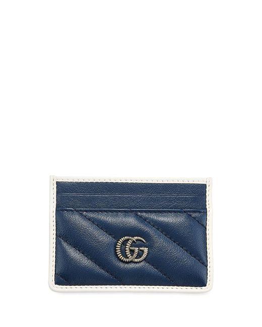 Gucci Blue GG Marmont Torchon Card Case