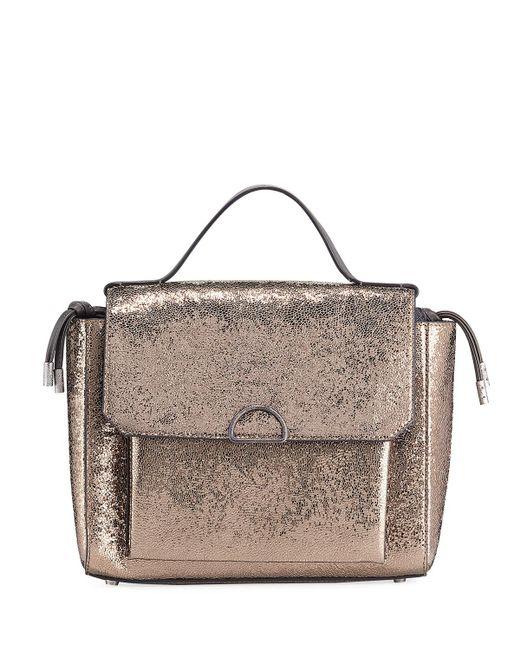 Brunello Cucinelli - Natural Broken Glass-effect Top Handle Satchel Bag - Lyst