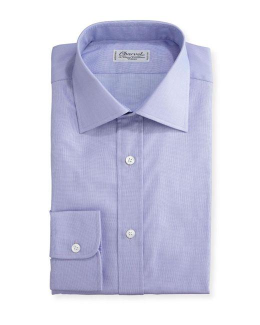Charvet - Purple Small Check Dress Shirt for Men - Lyst