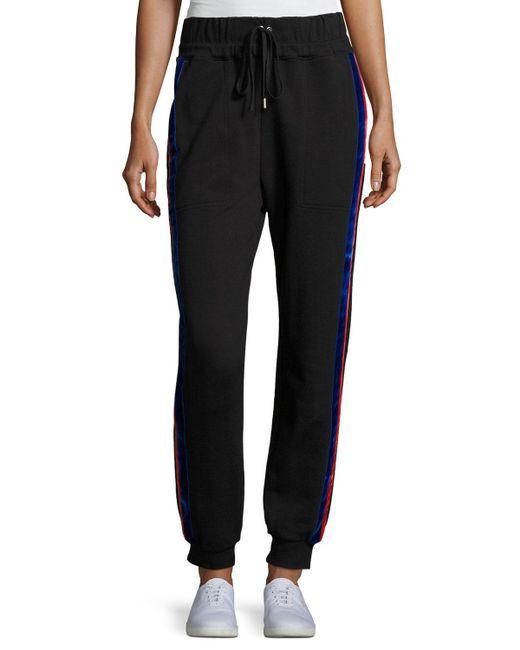 Public School | Black Lucia Side-stripe Jogger Pants | Lyst