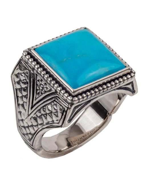 Konstantino - Multicolor Men's Sterling Silver & Turquoise Signet Ring for Men - Lyst