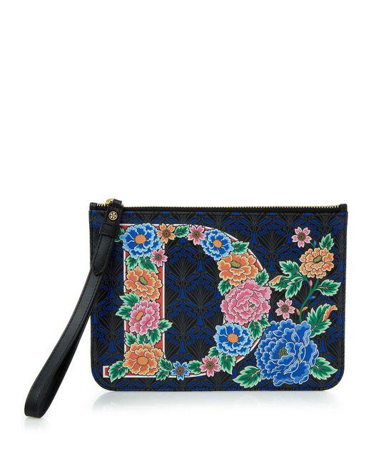 Liberty - Blue Alphabet Iphis-print Wristlet Bag - Lyst