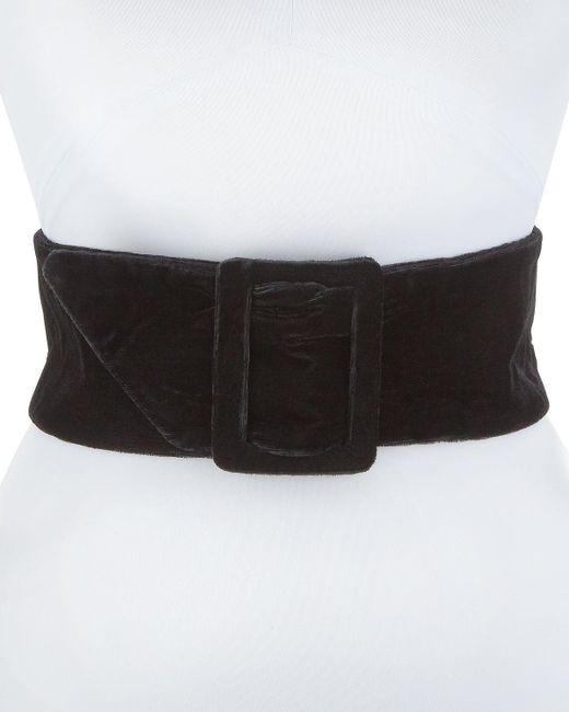 Deborah Drattell | Black Lisea Velvet Corset Belt | Lyst
