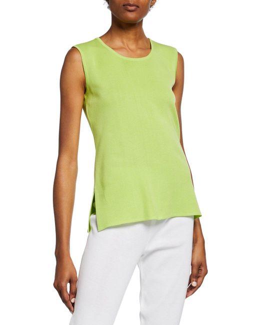 Misook Green Plus Size Rio Crewneck Knit Tank Top