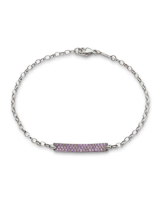 Monica Rich Kosann - Metallic Petite Poesy Amethyst Bracelet In 18k White Gold - Lyst