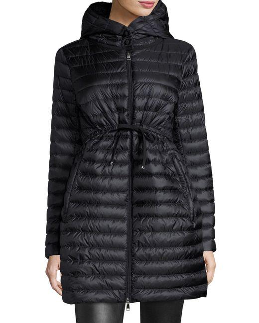Moncler - Black Barbel Hooded Puffer Coat - Lyst