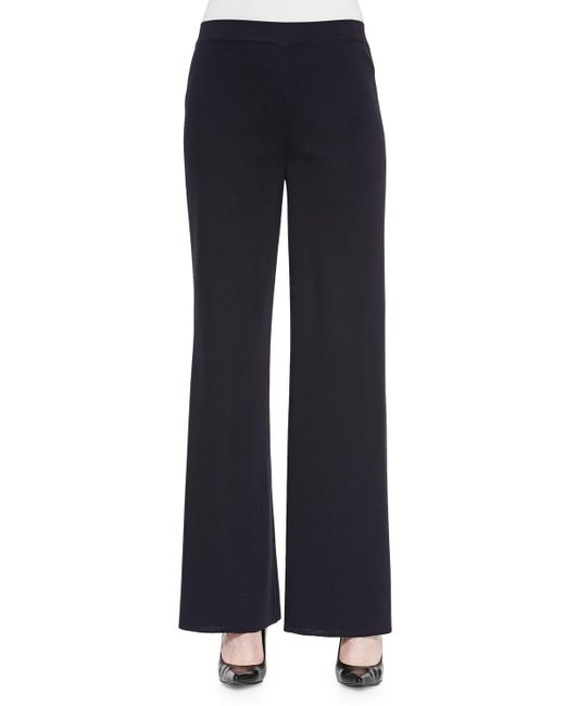 Misook - Blue Washable Wide-leg Pants - Lyst