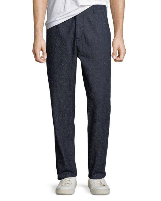 Levi's - Blue Men's Tapered Silk-blend Trouser Pants for Men - Lyst