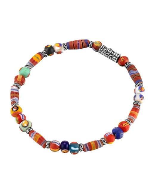 John Hardy - Multicolor Classic Chain Silver Bracelet With Borneo Beads for Men - Lyst