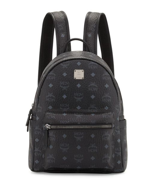 MCM - Black Stark Small No Stud Backpack - Lyst