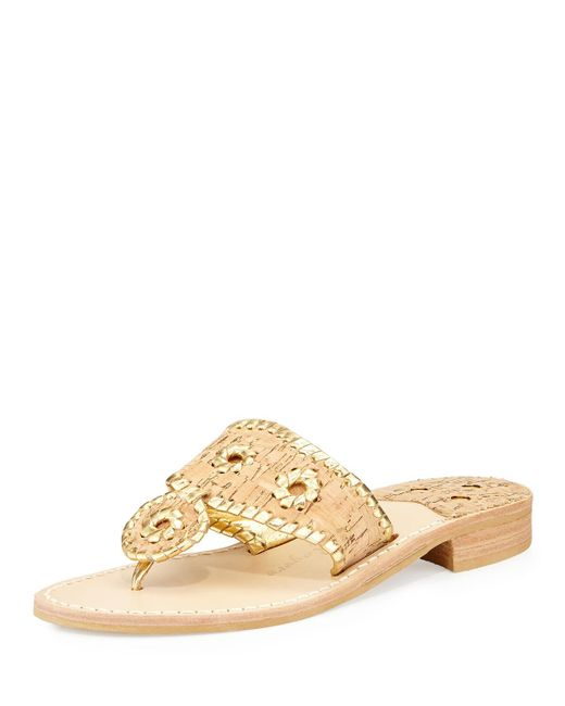 Jack Rogers - Natural Napa Valley Cork Thong Wedge - Lyst