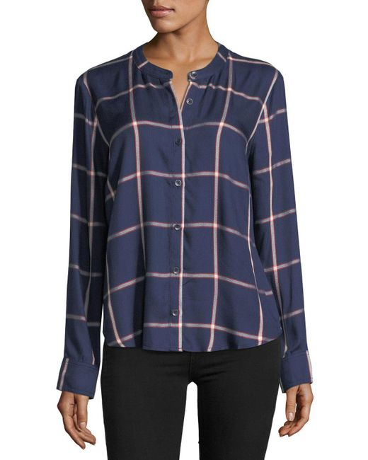 Splendid | Blue Reily Plaid Button-up Shirt | Lyst