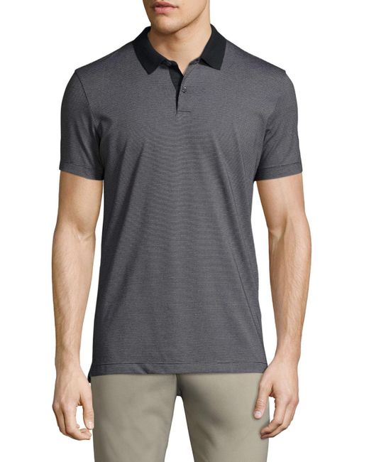 Theory   Blue Sandhurst Dotted-stripe Polo Shirt for Men   Lyst
