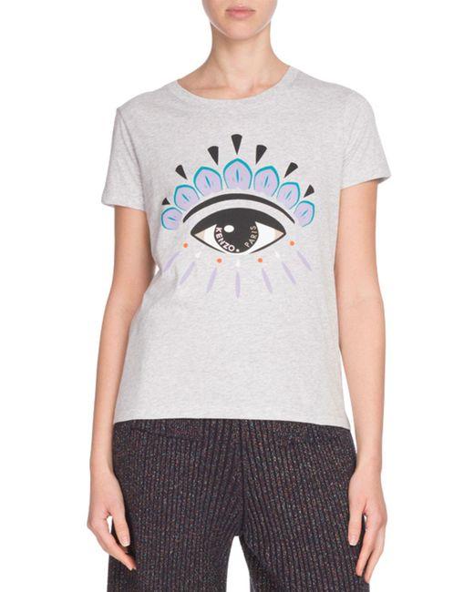 KENZO - Gray Icon Eye-print Classic Short-sleeve T-shirt - Lyst