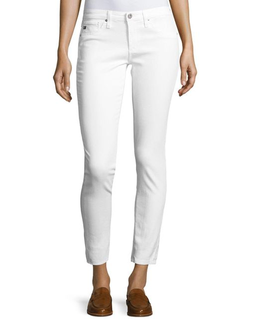 AG Jeans - White Skinny Ankle Jeans - Lyst