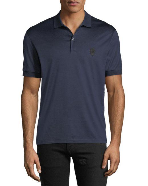 Alexander McQueen - Blue Men's Polo Shirt for Men - Lyst