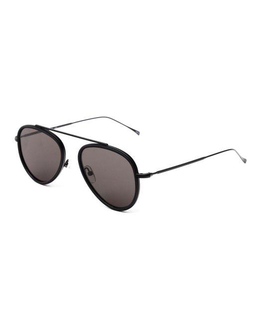 Illesteva - Black Single-bridge Acetate Aviator Sunglasses - Lyst