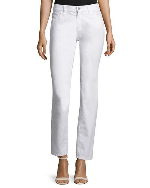 Lafayette 148 New York | Black Thompson Yarn-dyed Denim Slim-leg Jeans | Lyst