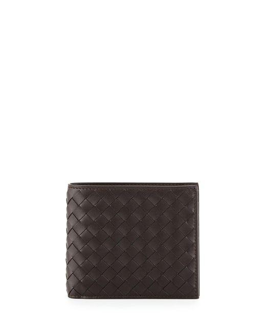 Bottega Veneta - Brown Basic Woven Wallet for Men - Lyst