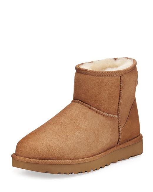 Ugg Brown UGG Womens Chestnut Classic Mini Ii Sheepskin Boots