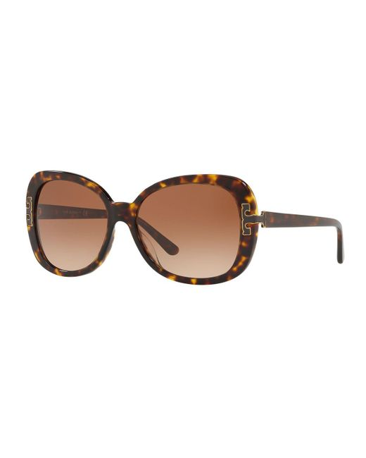 76d8ae2c82 Lyst - Tory Burch Gradient Butterfly Sunglasses in Brown