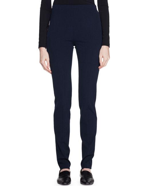 The Row - Blue Losso Wool-blend Skinny-leg Pants - Lyst