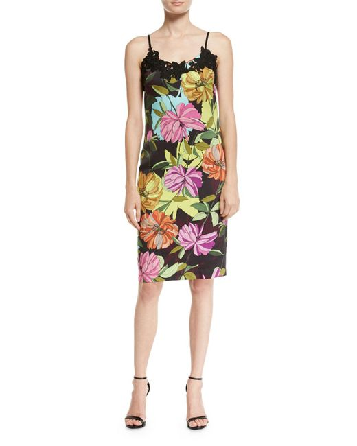 Trina Turk   Multicolor Dahlia Dell Sleeveless Floral-print Slip Dress   Lyst