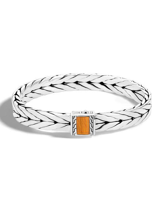 John Hardy - Brown Men's Modern Chain Medium Tiger Eye Bracelet for Men - Lyst