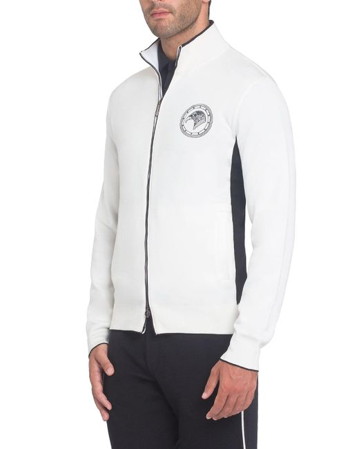 Stefano Ricci - White Silk-blend Zip-front Jogging Hoodie for Men - Lyst