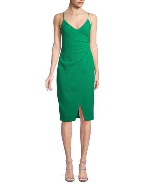 Black Halo - Green Bowery Slip Dress W/ Slit - Lyst