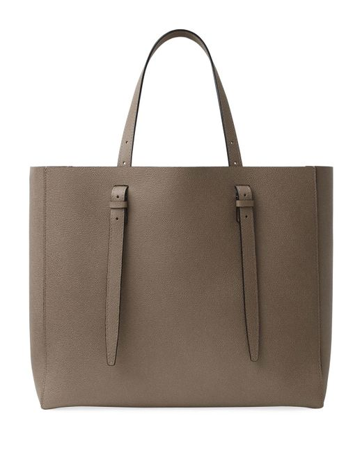 Valextra Natural Soft Leather Tote Bag