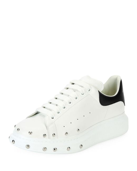 433c5501e831 Alexander McQueen - White Studded Leather Low-top Sneaker - Lyst