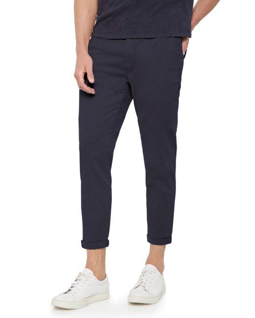 Joe's Jeans - Blue Men's The Soder Slim Cropped Twill Pants for Men - Lyst