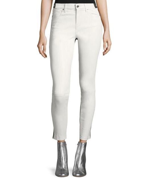 RTA - Multicolor Gypsy 2-tone Skinny-leg Leather Pants - Lyst