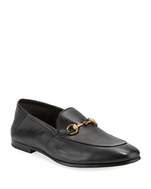 Gucci Brown Brixton Leather Moccasins for men