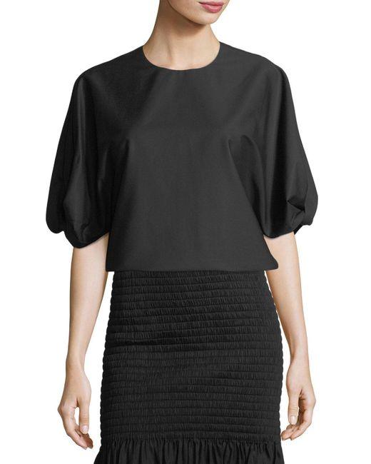 Rosetta Getty - Black Blse Slve Twist Sleeve Tunic - Lyst