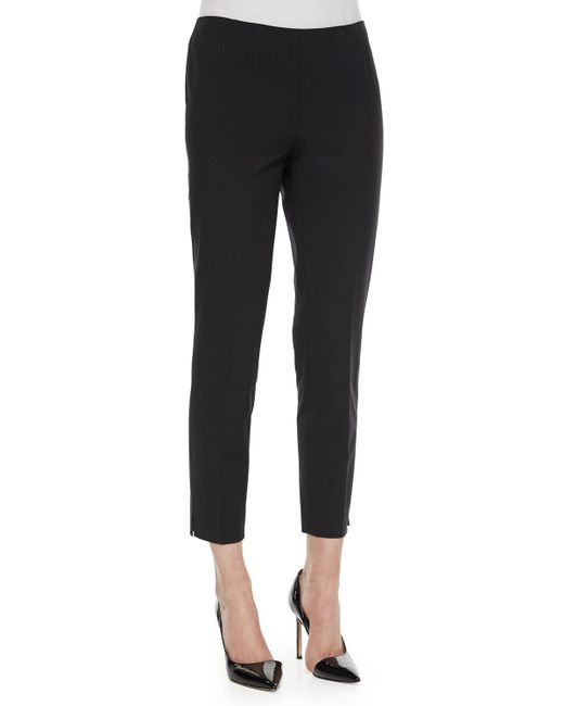 Lafayette 148 New York - Black Fundamental Bi-stretch Stanton Cropped Pants - Lyst