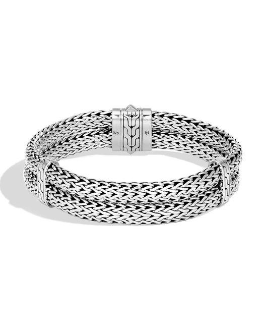 John Hardy - Metallic Men's Classic Chain Stacked Bracelet for Men - Lyst