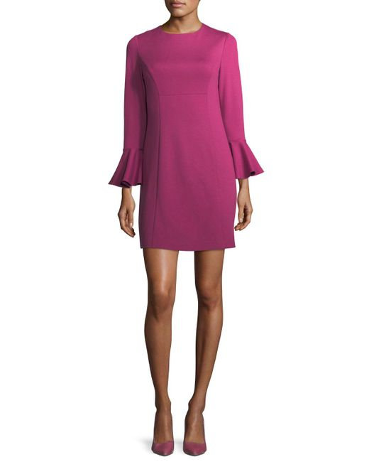 Trina Turk - Purple Panache Jewel-neck Straight Day Dress - Lyst