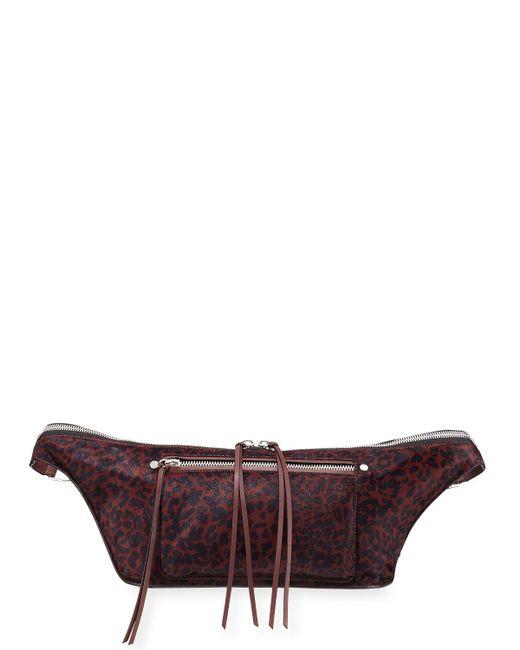 Rag & Bone - Red Elliot Calf Hair Fanny Pack Bag - Lyst