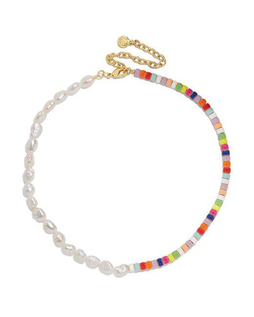 BaubleBar Multicolor Ellie Pearl & Bead Necklace