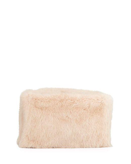 Proenza Schouler Pink Mink Fur Frame Clutch Bag