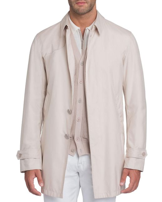 Stefano Ricci - Natural Button-front Silk Trench Coat for Men - Lyst