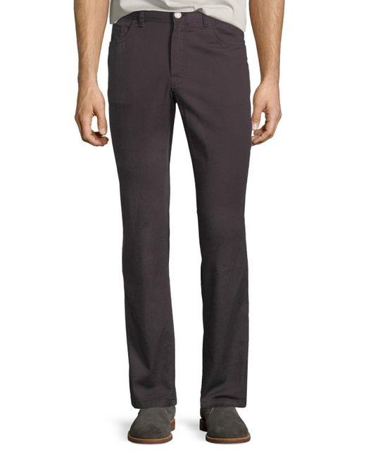 Brioni - Brown Men's 5-pocket Twill Pants for Men - Lyst